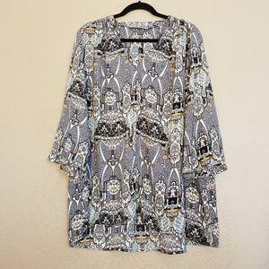 Sejour Size 16W Blouse 3/4's Length Sleeve